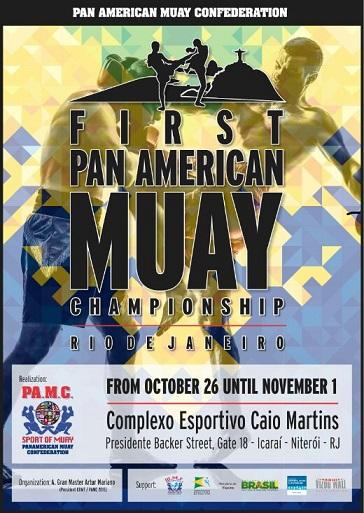 Cronograma do Pan-americano de Muay Thai