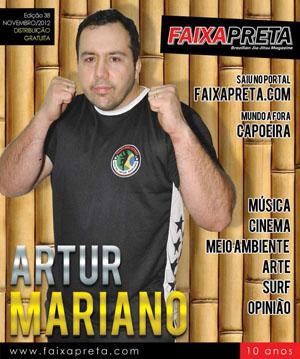Mestre Artur Mariano é capa do Faixa Preta